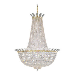 Schonbek Lighting - Schonbek Lighting 3722-20A Roman Empire Polished Gold 44 Light Chandelier - 44 Bulbs, Bulb Type: 60 Watt Incandescent; Product made-to-order, 6-8 week lead time