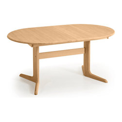 Skovby - Ellipse Dining Table, Beech - Planning a get-together? Never fear — this dining table can handle a crowd. With strong construction, inviting curves and an extended length of over eight feet, it's the perfect host for a party of any size.