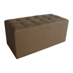 Screen Gems - Valencia Canvas Bench - Place this chic canvas bench at the end of your bed or use it as a coffee table that doubles for extra seating in your living room. It's a sophisticated and useful piece for nearly any room in your home. Pair it with a neutral palette or a single pop of color for an easy design addition.