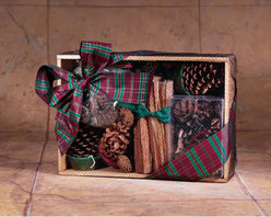 GOODS OF THE WOODS - Fire Starter Oak Crate with Color Cones, 4 Pine Cone Fire Starters - Fire starter oak crate with color cones, 4 pine cone fire starters, fatwood and cinnamon potpourri.