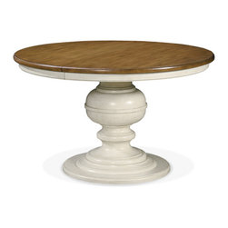 Universal Furniture - Summer Hill Two Tone Round Pedestal Dining Table -