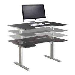 "Jesper Office Furniture - 2000 Series 55"" Sit-Stand Desk - Features:"