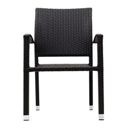 Modway - Bella Dining Chair in Espresso - Relax in confidence, as you effortlessly unite diverse forces to take center stage. Wealth and success surround you and draw attention to greater heights. This outdoor wicker dining chair has a sturdy aluminum frame covered with an espresso rattan weave.
