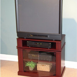 4D Concepts - Swivel Top Cherry TV Stand Multicolor - 08699 - Shop for Visual Centers and Stands from Hayneedle.com! This great looking cherry finish entertainment center is crafted from PVC and fitted with hinged glass doors. Overall it is nearly an indestructible piece of furniture and will last you long after your television is obsolete. The top shelf portion swivels giving you a better angle to the television and your remote an angle for your DVD player or cable equipment. Great for a modern living room.About 4D Concepts 4D Concepts is a manufacturer of fine homewares located in California. They specialize in kitchen cabinetry cupboards baker's racks as well as bathroom furniture. Using materials such as metal select woods and premium hinges and hardware their products whether they are entertainment centers or a simple plant stand always endure years of continuous use.