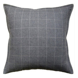 Ryan Studio - Windowpane Pewter Pillow - This pewter pillow is not only stylish, but comfortable too!