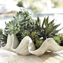 Ballard Designs - Giant Clam Shell - How fun is this large clamshell? It is a fun conversation piece for your screened-in porch or patio.