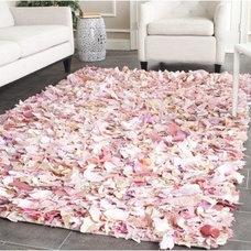 Rugs Safavieh Hand-woven Chic Pink Shag Rug (8' x 10')