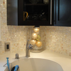 """Natural Varied Mother of Pearl Tile 1"""" x 1"""" Squares - Natural Varied Mother of Pearl Tile 1"""" x 1"""" Squares"""