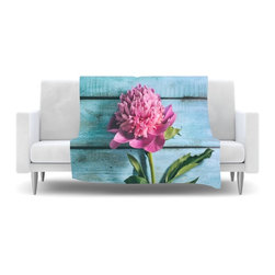 """Kess InHouse - Nastasia Cook """"Peonie"""" Teal Pink Fleece Blanket (30"""" x 40"""") - Now you can be warm AND cool, which isn't possible with a snuggie. This completely custom and one-of-a-kind Kess InHouse Fleece Throw Blanket is the perfect accent to your couch! This fleece will add so much flare draped on your sofa or draped on you. Also this fleece actually loves being washed, as it's machine washable with no image fading."""