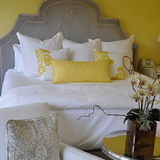 Gray and Yellow Bedroom Ideas - Contemporary - bedroom - Giannetti Home