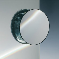 Windisch - Suction Pad Chrome 3x or 5x One Face Magnifying Mirror - One face magnifying mirror. Three suction cups on the back. This Mirror is ONLY able to mount to glass surfaces. It will not hold up on tile, drywall, etc.