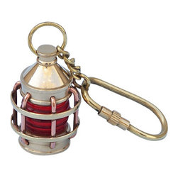 "Handcrafted Model Ships - Brass Anchor Lantern Key Chain 5"" - Brass Lantern Key Ring - This nautical-themed key chain is both adorable and functional, featuring an anchor lantern key fob. Crafted from solid brass, this key chain is as beautiful as it is durable and functional. A knurled knob allows you to easily and securely add or remove keys from the ring. These wonderful key chains make ideal gifts for friends, family, employees, clients, co-workers, and especially yourself."