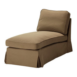 IKEA of Sweden - EKTORP Chaise - Chaise, Idemo light brown