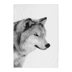 Bed Linen Bear, Wolf - Pure organic, simple and cozy duvet with wolf print.