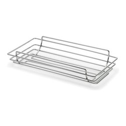 "Blomus - Wires Bread Basket - The Wires Bread Basket is a necessity for any kitchen. Whether storing oven-fresh made bread or any house-hold clutter this basket is stylish and durable. This basket is great for storage and display. Features: -Metal-wire, chrome plated -Ideal for storage and display -Overall Dimensions: 14"" D"