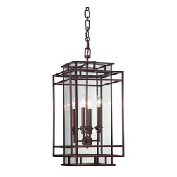 Savoy House - Harmony 4-Light Foyer - Brian Thomas is on trend with the introduction of Harmony, a delightful collection with open geometric shapes and a rich Mohican Bronze finish. These lanterns are tomorrow's classics, adding beauty and richness to your home for years to come.