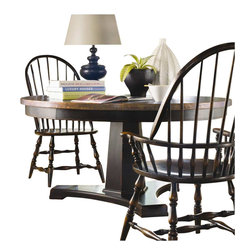 Hooker Furniture - Hooker Furniture Sanctuary 60in Round Pedestal Dining Table in Ebony - Hooker Furniture - Dining Tables - 300575203 - Pursue serenity at home...Create your own personal sanctuary a special place where you can experience...comfort within.