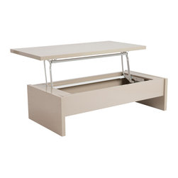Euro Style - Euro Style Aurora Coffee Table 09806LAT - He Aurora Coffee table is perfect for any modern office or home. With its unique lift-top design, this truly modern piece allows to the table to be used as both a coffee table or dining table.
