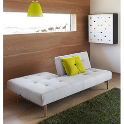 Knap Sofa Bed - I recently enjoyed learning more about Scandinavian design at the London Design Festival, so the Knap sofa bed by Per Weiss is now one of my firm favorites.