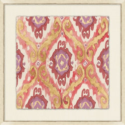 Wendover Art - Painterly Ikat IIII - This striking Giclee on Paper print adds subtle style to any space. A beautifully framed piece of art has a huge impact on a room for relatively low cost! Many designers and home owners select art first and plan decor around it or you can add artwork to your space as a finishing touch. This spectacular print really draws your eye and can create a focal point over a piece of furniture or above a mantel. In a large room or on a large wall, combine multiple works of art to in the same style or color range to create a cohesive and stylish space! This striking image is beautifully framed in distressed white.