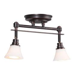 DVI LIghting - Dvi Lighting DVP8382PW-OP Two Light Track - DVI Lighting DVP8382PW-OP Two Light Track