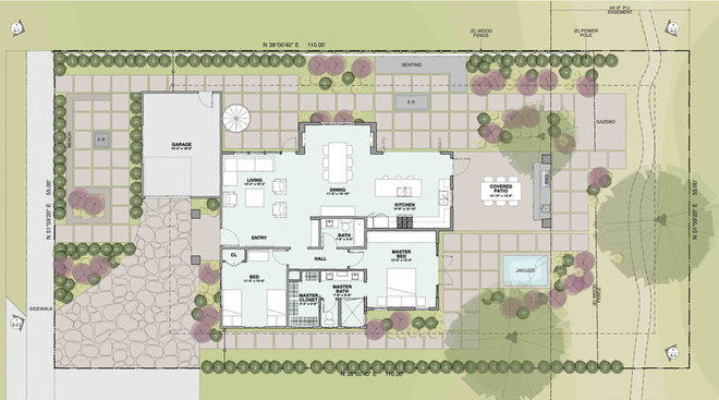 Traditional Site And Landscape Plan by Dylan Chappell Architects