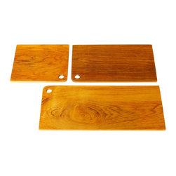 "Bahari - Teak Wood Cutting Board, 10"" - Teak Wood Cutting Board.  Natural Oil finish."