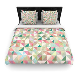 "Kess InHouse - Mareike Boehmer ""Graphic 75"" Teal Pink Fleece Duvet Cover (Queen, 88"" x 88"") - You can curate your bedroom and turn your down comforter, UP! You're about to dream and WAKE in color with this uber stylish focal point of your bedroom with this duvet cover! Crafted at the click of your mouse, this duvet cover is not only personal and inspiring but super soft. Created out of microfiber material that is delectable, our duvets are ultra comfortable and beyond soft. Get up on the right side of the bed, or the left, this duvet cover will look good from every angle."