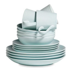 Gordon Ramsay By Royal Doulton - Gordon Ramsay by Royal Doulton Maze 16-Piece Dinnerware Set in Blue - World-renowned chef Gordon Ramsey exemplifies performance and presentation; epitomized by his Maze Dinnerware Collection. This stylish stoneware tableware is contemporary and stylish, yet durable enough for everyday use.