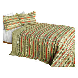 Blancho Bedding - A Long Summer 3PC Cotton Contained Patchwork Quilt Set  Full/Queen Size - Set includes a quilt and two quilted shams (one in twin set). Shell and fill are 100% cotton. For convenience, all bedding components are machine washable on cold in the gentle cycle and can be dried on low heat and will last you years. Intricate vermicelli quilting provides a rich surface texture. This vermicelli-quilted quilt set will refresh your bedroom decor instantly, create a cozy and inviting atmosphere and is sure to transform the look of your bedroom or guest room. Dimensions: Full/Queen quilt: 90 inches x 98 inches  Standard sham: 20 inches x 26 inches.