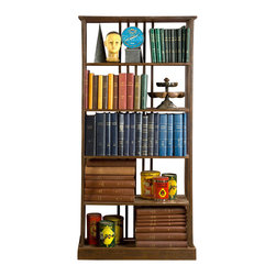 BoBo's Intriguing Objects - Wright Medium Bookcase - Reading the classics is one thing. Storing them is quite another. Here, in iron with a rusted patina, is a strong freestanding shelf for your books and cherished objects. It's simply stylish enough for just about any setting.