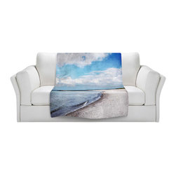 DiaNoche Designs - Throw Blanket Fleece - Blue White Skies - Original Artwork printed to an ultra soft fleece Blanket for a unique look and feel of your living room couch or bedroom space.  DiaNoche Designs uses images from artists all over the world to create Illuminated art, Canvas Art, Sheets, Pillows, Duvets, Blankets and many other items that you can print to.  Every purchase supports an artist!