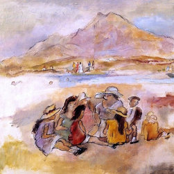 """Art MegaMart - Jules Pascin At La Goulette - 21"""" x 28"""" Premium Canvas Print - 21"""" x 28"""" Jules Pascin At La Goulette premium canvas print reproduced to meet museum quality standards. Our museum quality canvas prints are produced using high-precision print technology for a more accurate reproduction printed on high quality canvas with fade-resistant, archival inks. Our progressive business model allows us to offer works of art to you at the best wholesale pricing, significantly less than art gallery prices, affordable to all. We present a comprehensive collection of exceptional canvas art reproductions by Jules Pascin."""
