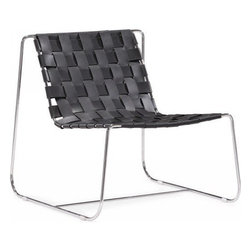 ZUO Modern - Prospect Park Lounge Chair in Black - 500160 - Prospect Collection Lounge Chair