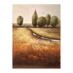 """Trademark Global - Printed Giclee Reproduction of In the Country - Giclee on canvas. Ready to Hang Wall Art. Professionally mounted on a lightweight wooden frame. 36 in. W x 48 in. H x 1.5 in. depthGiclee (jee-clay) is an advanced printmaking process for creating high quality fine art reproductions. The attainable excellence that Giclee printmaking affords makes the reproduction virtually indistinguishable from the original artwork. The result is wide acceptance of Giclee by galleries, museums, and private collectors.Now you can experience the beauty and splendor of Joval's impressionistic artwork. """"In the Country"""" will be a charming new addition to any home or office decor.Born in the small French town of Juan le' Pins Joval started as a street painter at the early age of 12. Amazing the visitors as well as the locals by his ability to recreate scenes of places he might not have even visited just saw a small picture book, Joval became regarded as part of the landscape of this quaint town.Moving to Paris to further learn about and perfect his artistic style Joval was quickly discovered and given a one man show in a gallery on the Left Bank section of Paris. Enjoying fair success in Paris Joval needed to go back to his roots to create for the love and from his soul not for the critics.He returned to Juan Le' Pins and has produced what he calls friendly/understandable art.""""Art is for beauty and the visual enjoyment of those who view the piece, not for those who critique based on comparison""""."""