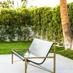 Galanter & Jones - Evia Heated Lounge Outdoor Seating, Charcoal - The Evia Heated Lounge is a piece of radiantly heated outdoor furniture, the first of its kind. Smooth like a river rock, the lounge warms your entire body with its efficient and comfortable design.
