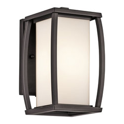 Kichler Lighting - Kichler Lighting Bowen Modern / Contemporary Outdoor Wall Sconce X-ZA63394 - Celebrate the bold lines, elegance, soothing comfort, and dapper sheen of this contemporary wall pendant. The satin-etched cased opal glass provides a bright and delicate glow for your living room, bedroom, bathroom, kitchen, dining room, lounge, den, or office. The architectural bronze finish glistens with durability and outstanding quality. Share the friendly sparkle with friends and family.