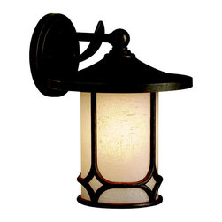 Kichler Lighting - Kichler Lighting 9366AGZ Chicago Aged Bronze Outdoor Wall Sconce - Kichler Lighting 9366AGZ Chicago Aged Bronze Outdoor Wall Sconce