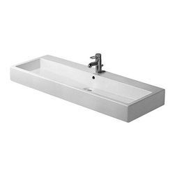 Duravit - Duravit | Vero Wall-Mounted Ground Washbasin 47-Inch - Made in Germany by Duravit.A part of the Vero Collection. The Vero Wall-Mounted Ground Washbasin 47-Inch's immensity makes it a dramatic addition to any master bath. Made from solid porcelain and weighing over eighty pounds, this sink will withstand the test of time in spite of daily use. Add a chrome siphon with drain to enhance its stately appeal. Product Features: