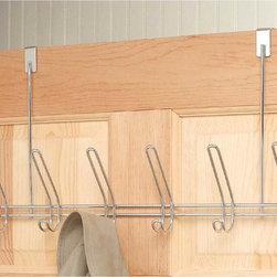 Renovators Supply - Hooks Bright Chrome Towel Hook On the Door 19W x 2 1/2 Proj'' - Towel Hook. Space-saving, double hook design doesn't take up a lot of room, and it's like having 12 hooks. Hang it behind the door and you instantly have room for coats, hats, clothes and belts. Measures 19 in. wide x 11 in. high with a 2 1/2 in.projection.