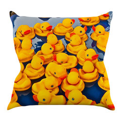 "Kess InHouse - Maynard Logan ""Duckies"" Throw Pillow (16"" x 16"") - Rest among the art you love. Transform your hang out room into a hip gallery, that's also comfortable. With this pillow you can create an environment that reflects your unique style. It's amazing what a throw pillow can do to complete a room. (Kess InHouse is not responsible for pillow fighting that may occur as the result of creative stimulation)."