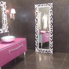 Eclectic Bathroom by Lea Bassani Design