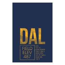 08 Left - 008 Left DAL (ATC) - Dallas Metal Print - As good as it gets. Ready to hang. Absolutely stunning and tough as rocks.