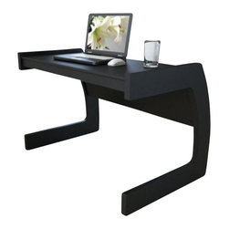 Sonax - Sonax Contemporary Workspace Desk in Midnight Black Finish - Sonax - Computer Desks - ML4450 - Turn any small space into a stylish and productive workplace with this classic black C shaped desk by Sonax. The stylish curved shape of this desk produces a spacious and sturdy desktop while maintaining a small footprint ideal to accommodate even the tightest spaces. Crafted with special attention to detail making it easy to assemble, this piece is proudly made in North America.