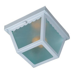 Maxim Lighting - Maxim Lighting 6203FTWT Outdoor Essentials 1-lt Outdoor Ceiling Mount - Maxim Lighting 6203FTWT Outdoor Essentials 1-lt Outdoor Ceiling MountFinal Sale. Close out prices. While supplies last.