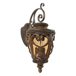 Quoizel - Quoizel FQ8314AW01 French Quarter 4-Light Outdoor Wall Fixture, Antique Brown - Part Number-FQ8314AW01