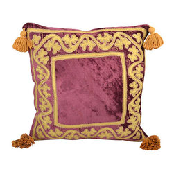 n/a - Consigned Pillow w/ Burgundy Velvet - As described by LR Antiques: