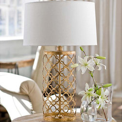 "Regina Andrew - Regina Andrew Mosaic Drum Lamp - Daring and unique, the Jute table lamp by Regina Andrew is an open-frame shape made from hemp-wrapped metal. This eclectic light fixture is topped with a sleek oatmeal linen drum shade (included). Base: 25.5""H; Base with shade: 19"" Dia x 37.5""H; 150W bulb (not included); 3-way switch; 8' cord with tan fabric sleeve"
