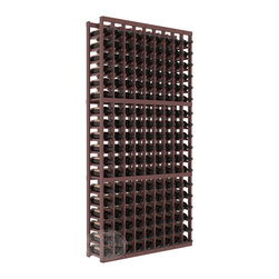 9 Column Standard Cellar Kit in Pine with Walnut Stain + Satin Finish - A 9 column solution from our most popular style of wine racking. Completely solid assembly to withstand extensive use. We guarantee it. All the edges of our products are softened to ensure you won't get nicks or splinters, like you will from budget brands. You'll be satisfied. We guarantee that, too.