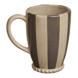 Gracious Goods GG - GG Livingstone Striped Ceramic Mugs - Serve some freshly brewed coffee the right way, in our indispensable ceramic mugs by the GG Collection. These exceptional, Italian-inspired mugs for gracious entertaining will surely bring old world elegance and style to your home. Hand crafted of the finest ceramic, these unique mugs will make your coffee breaks all the more exciting!   *Set of 4  *Capacity: 16oz Note: All finishes in this line are handcrafted, resulting in variations of color that reflect the unique character of each piece.